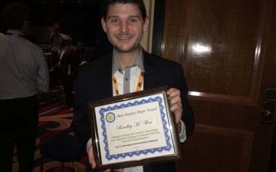 Brad Wins Best Student Presentation Award in the Characterization Area at 2017 IEEE PVSC