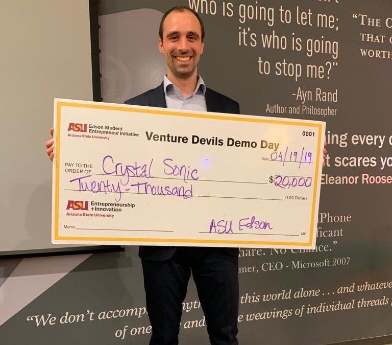 Crystal Sonic Wins Edson Student Entrepreneur Initiative